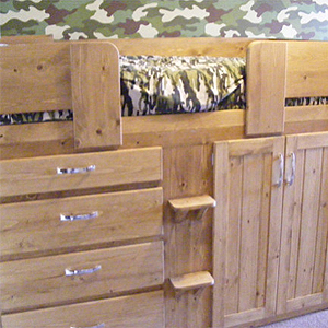 4 Drawer Boys Cabin Bed in Solid Oak