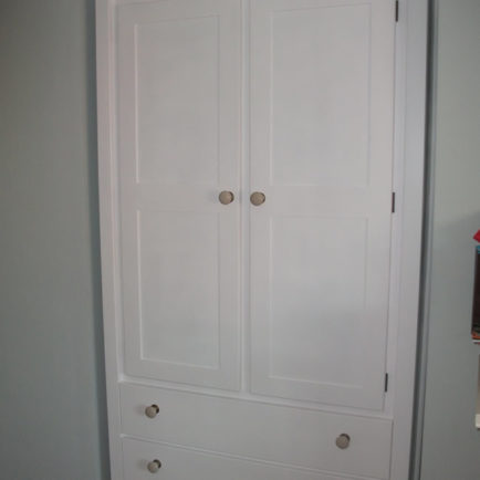 2 Door Wardrobe 2 Drawer White