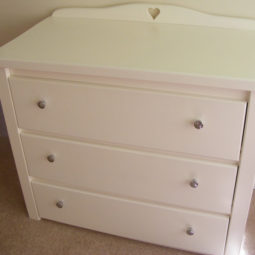 3 Drawer Kids Chest White