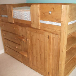 4 Drawer Kids Cabin Bed with Built in Shelving