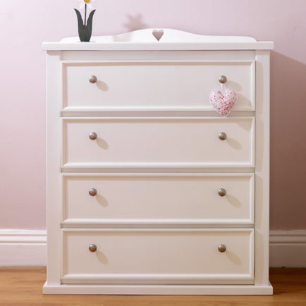 4 Drawer Kids Chest White