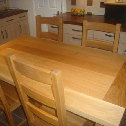"4 Seat Oak Dining Table (4' 6"" x  3')"