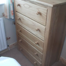 Solid Oak 5 Drawer Chest