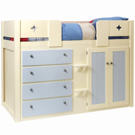 Childrens Cabin Bed Cream And Sky Blue