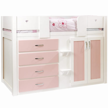 Kids Cabin Bed White And Princess Pink Aspenn Furniture