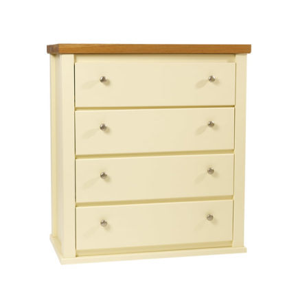4 Drawer Chest with 2″ Solid Oak Top