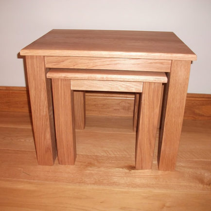 Nest of Tables in Solid Oak
