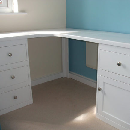 Corner Desk In White Aspenn Furniture