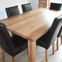 Solid Oak Dining Table 6'x3′