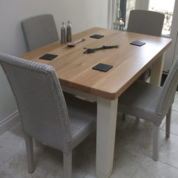 Oak Dining Table with pine legs