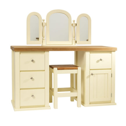 Dressing Table in Cream with Traditional Top