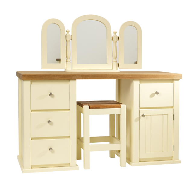 cheaper 3a803 6cb30 Dressing Table in Cream with Traditional Top | Aspenn Furniture