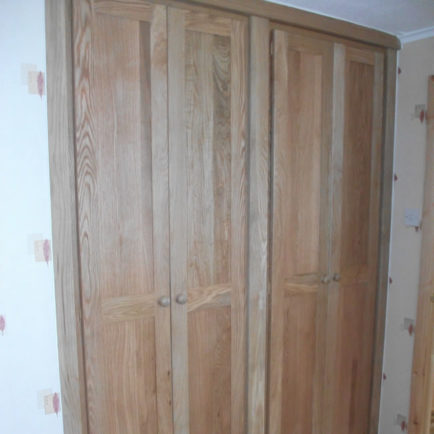 Solid Oak Fitted Wardrobe