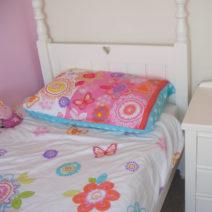 Girls Single Bed White