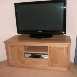 Solid Oak Media Cabinet