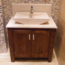Dark Oak Vanity Unit with Stone Top