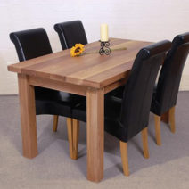 Solid Oak Dining Table 5'x3'