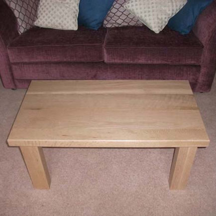 "Solid Oak Coffee Table 36"" x  22"""