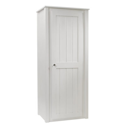 Single Wardrobe in Bone White