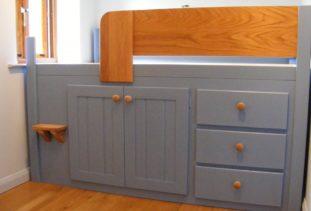 Bespoke Grey Kids Cabin Bed