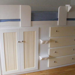4 Drawer Kids Cabin Bed White and Cream