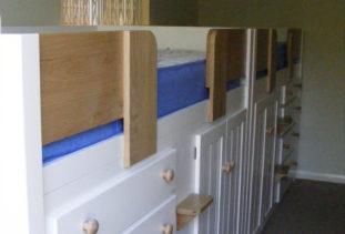 Kids Cabin Bed White & Oak