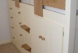 Kids Cabin Bed Oak & White