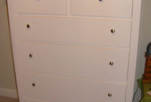 Tall White 6 Drawer Chest