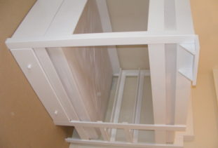 White Wooden Bunk Bed