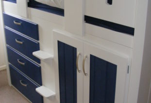 Cabin Bed Blue/White Detailing