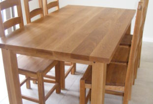 Chunky Dining Table & 6 Chairs
