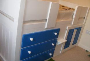 Bespoke Blue & White Cabin Bed