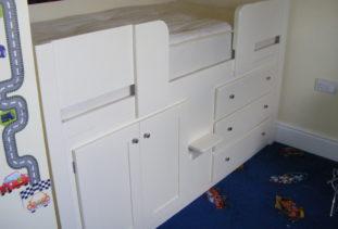 Kids Cabin Bed White Bespoke