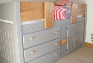 Grey Kids Cabin Bed