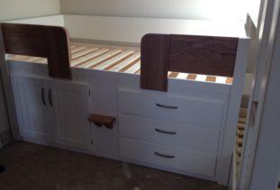 Cabin Bed Walnut & White