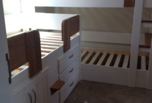 wooden bunk bed and cabin bed