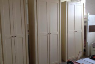 double wardrobes cream
