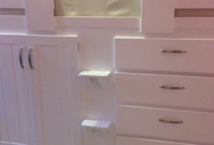 Kids White Cabin Bed with Star Cut Outs