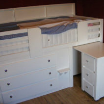 3 Drawer Kids Cabin Bed with Desk & Shelving