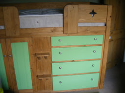4 Drawer Traditional Cabin Bed with Vibrant Green