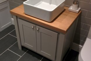 Bespoke wooden vanity unit