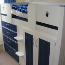 Dr Who Tardis 4 Drawer Kids Cabin Bed