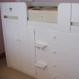 4 Drawer Cabin Bed with Star Cut Outs