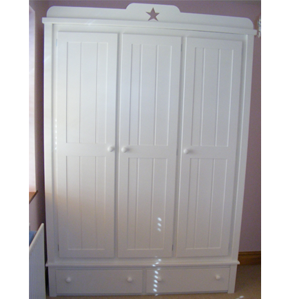 Large Wardrobe with Star Shaped Cut Outs