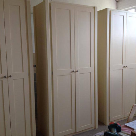 2 Door Wardrobe in Cream