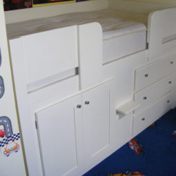 3 Drawer Cabin Bed All White