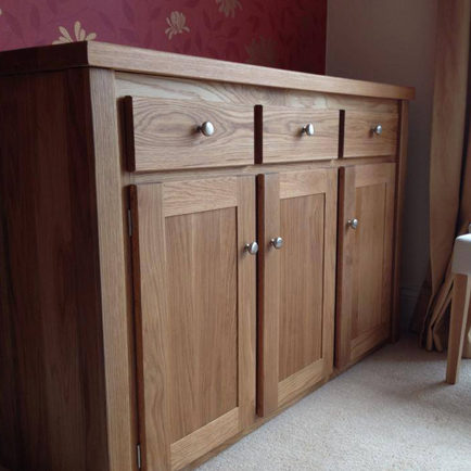 3 Door Solid Oak Sideboard