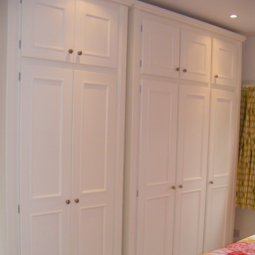 Triple or Double Door White Wardrobe