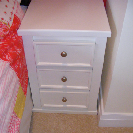 3 Drawer Bedside Cabinet White