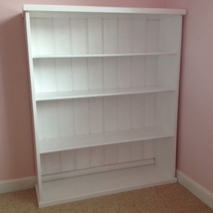 Solid White Bookcase